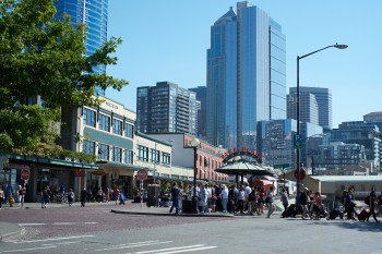Pike Place am Hafen in Seattle.
